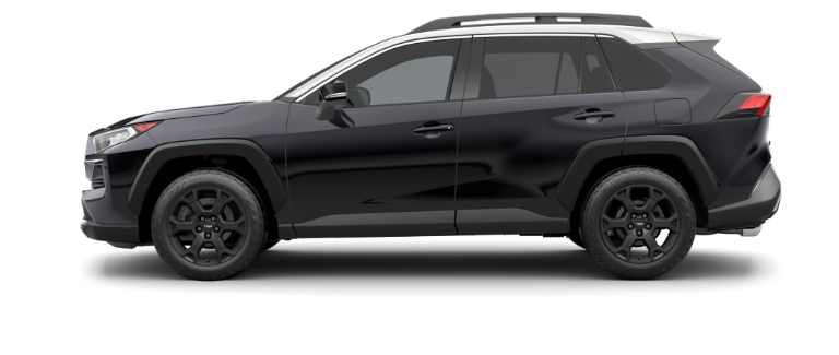 Midnight Black Metallic 2020 Toyota RAV4 with Ice Edge Roof