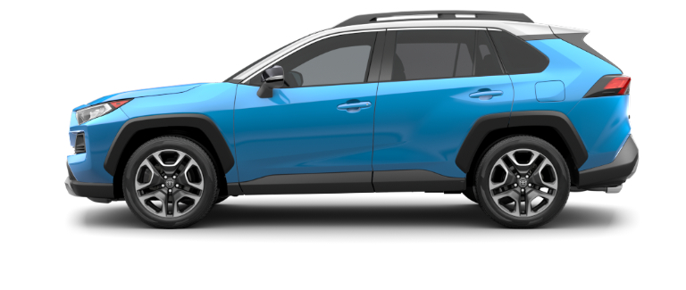 Blue Flame 2020 Toyota RAV4 with Ice Edge Roof