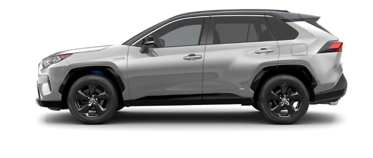 Silver Sky Metallic 2020 Toyota RAV4 with Midnight Black Metallic Roof