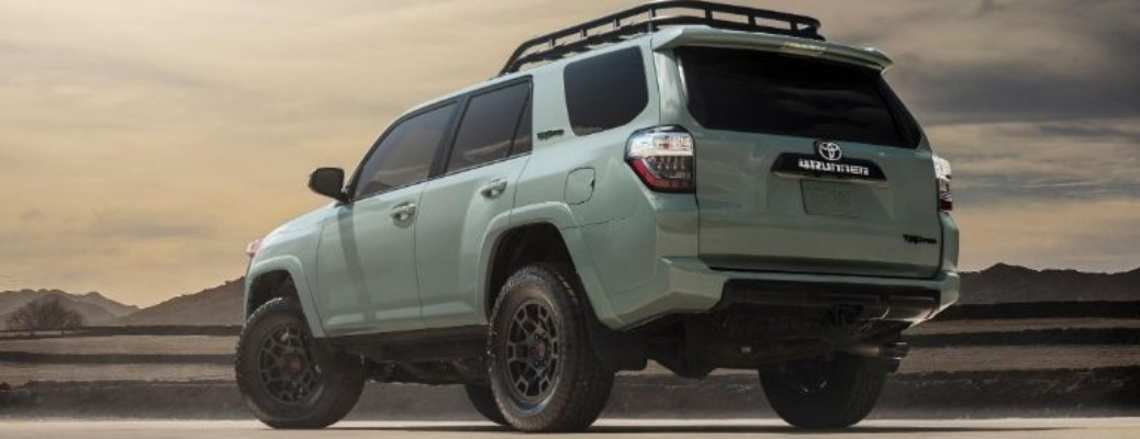 A 2021 Toyota 4Runner driving on a road