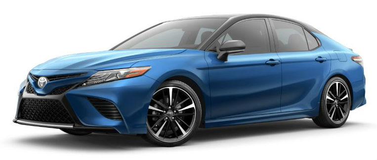 2020 Toyota Camry Blue Streak Metallic Midnight Black Metallic Roof