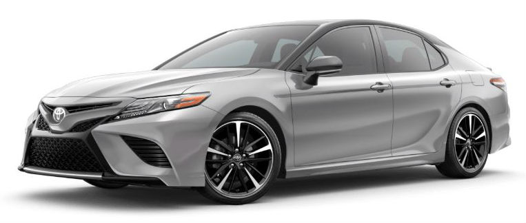 2020 Toyota Camry Celestial Silver Metallic Midnight Black Metallic Roof