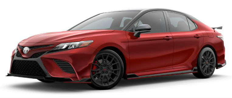 2020 Toyota Camry Supersonic Red Midnight Black Metallic Roof