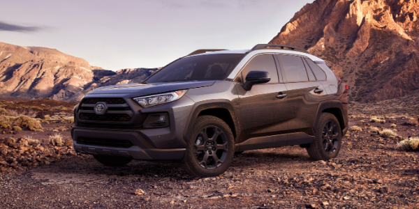 Front view of grey 2020 RAV4 TRD off road