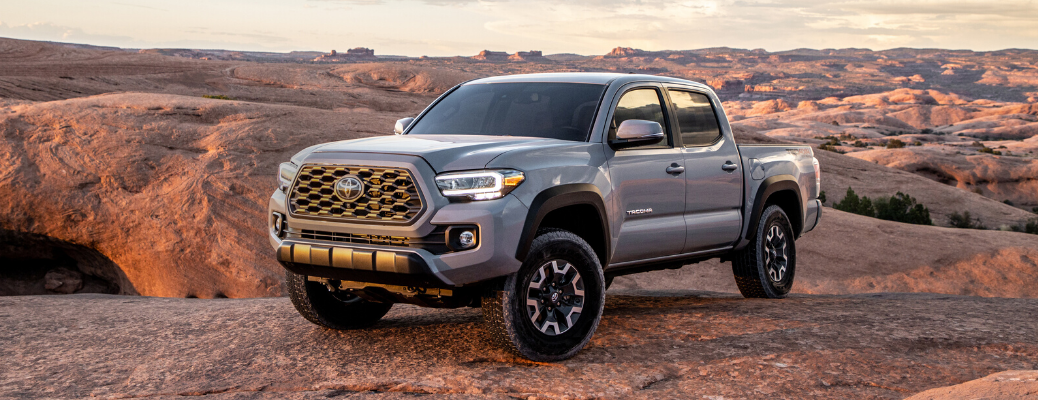Front view of 2020 Toyota Tacoma TRD Off-Road in Cement