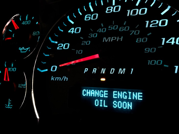 Oil change light on, engine needs to be serviced soon