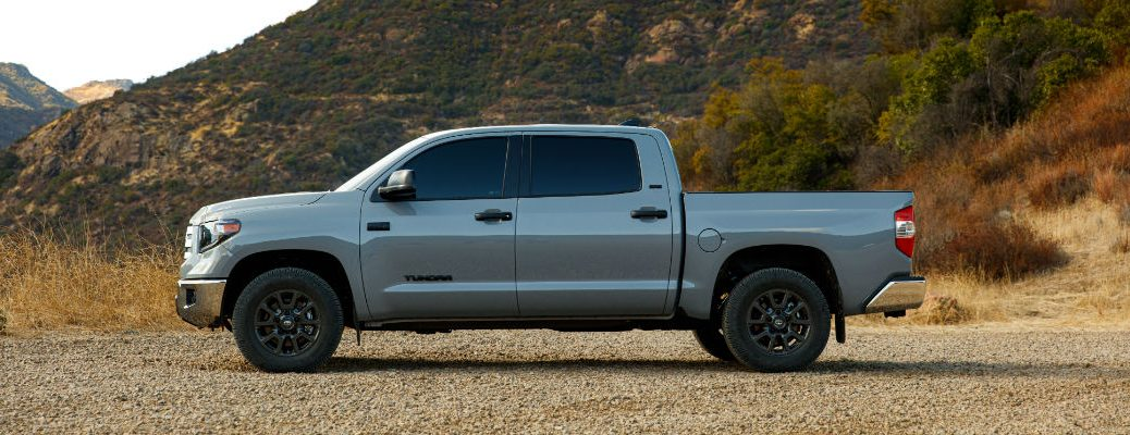 A left profile photo of the 2021 Toyota Tundra Trail Special Edition.