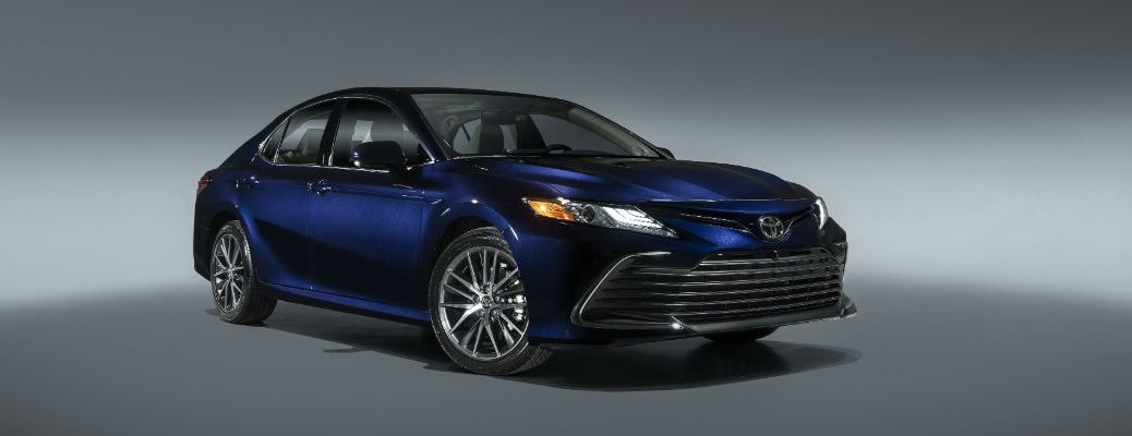 A front-left quarter photo of the 2021 Toyota Camry.