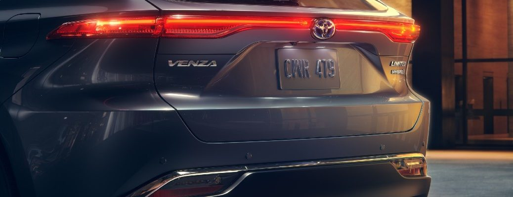 A photo of the rear liftgate on the 2021 Toyota Venza.