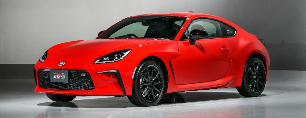 The new Toyota 86 at a presentation in Japan.