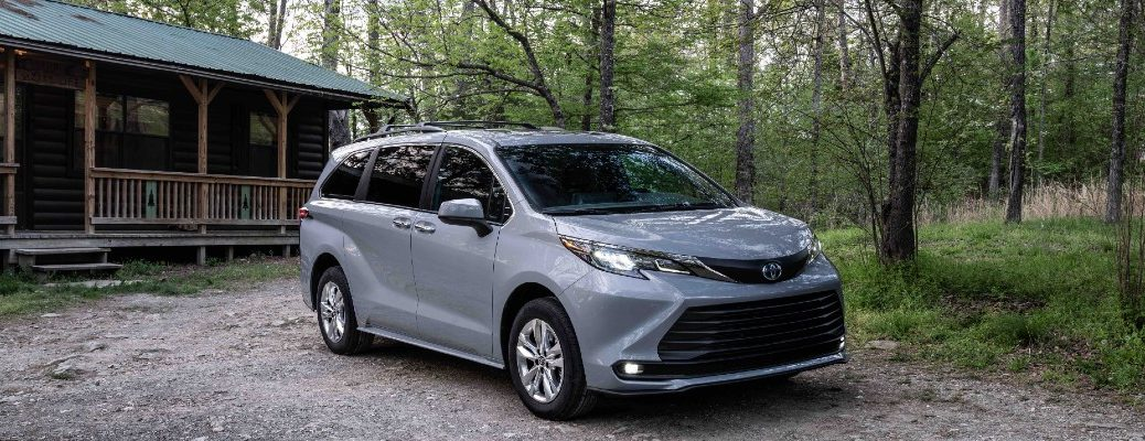 The 2022 Toyota Sienna Woodland Special Edition parked in the woods.