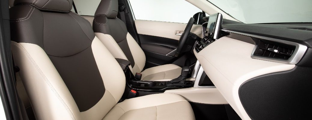 The front seats in the 2022 Toyota Corolla Cross.