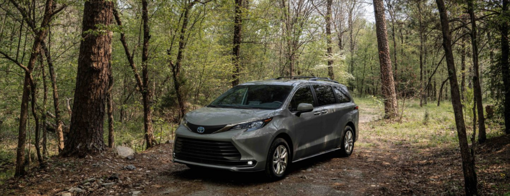 2022 Toyota Sienna parked in the forest