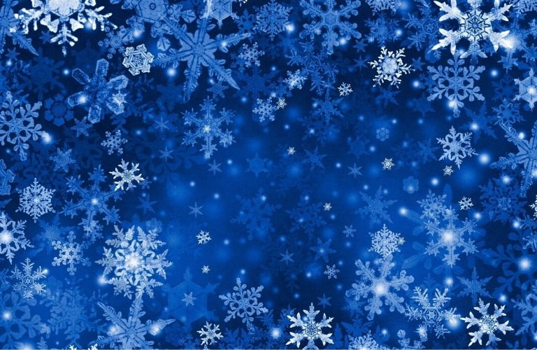 Blue winter-style background with snowflakes to highlight the A/C