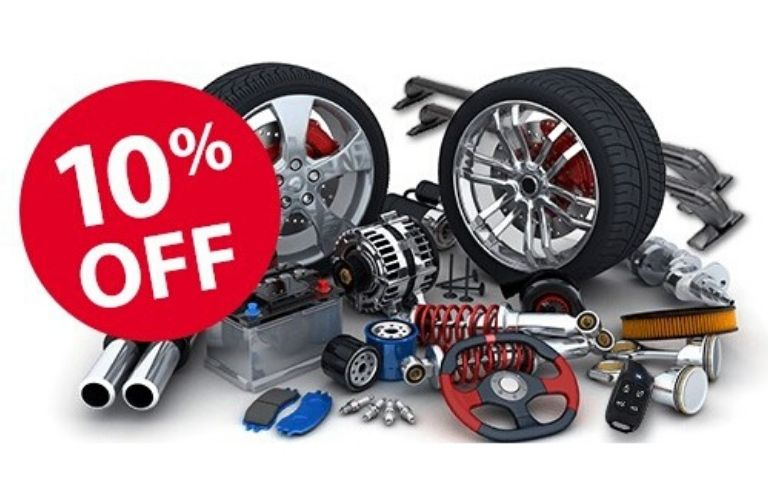 Image of Kia parts with a 10% off sticker on the image