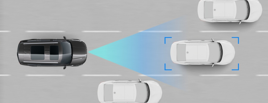 Kia Highway Drive assist top view animation on highway