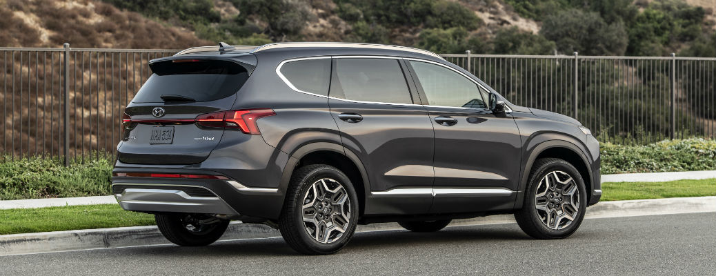 Side view of 2021 Hyundai Santa Fe Calligraphy