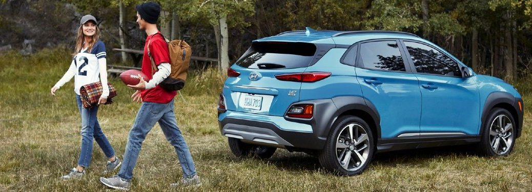 2020 Hyundai Kona parked in field