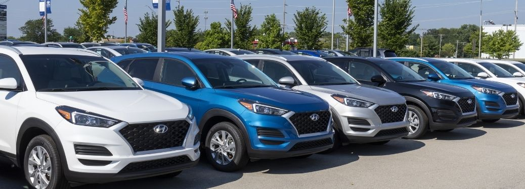 Hyundai Certified Pre-Owned Vehicles parked outside the showroom