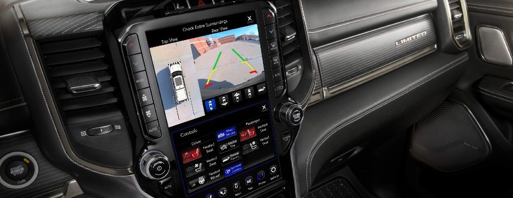 A photo of the touchscreen equipped in the RAM 1500.