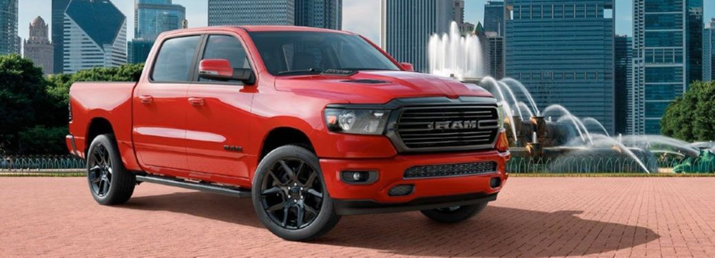 2020 Ram 1500 in red