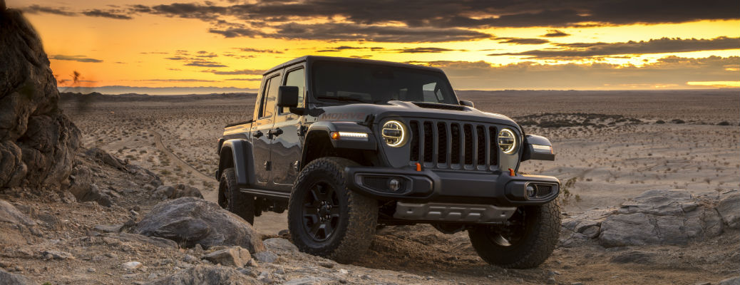 Grey 2020 Jeep Gladiator Mojave driving