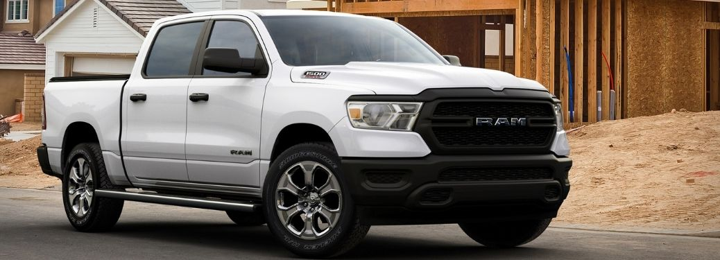 2021 Ram 1500 at construction site