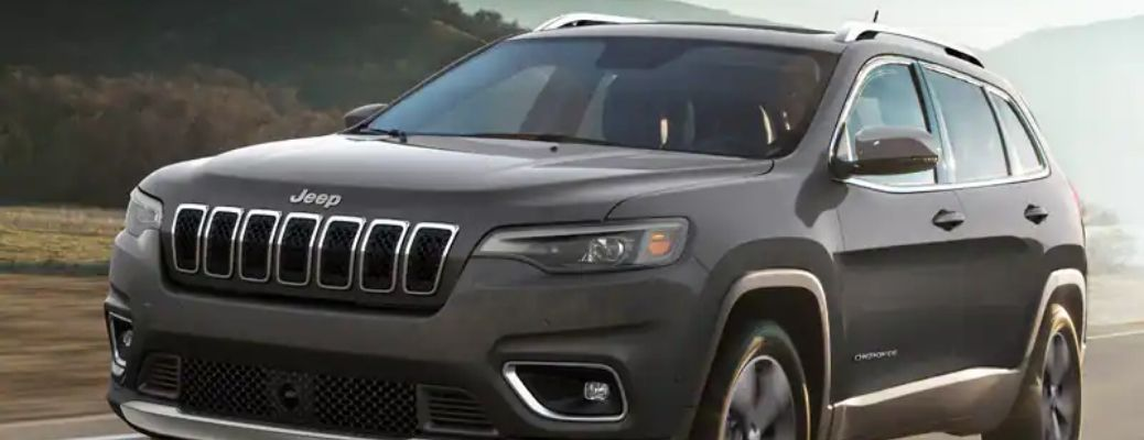 2022 Jeep Cherokee broad view on road close up