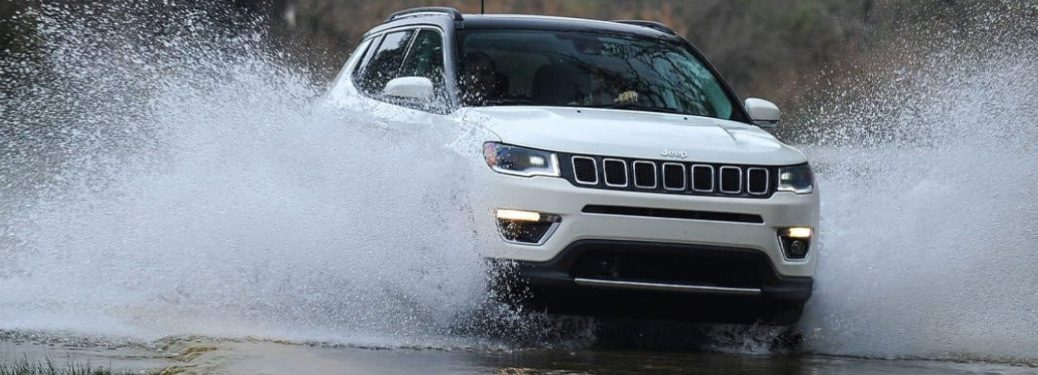 2021 Jeep Compass driving through water