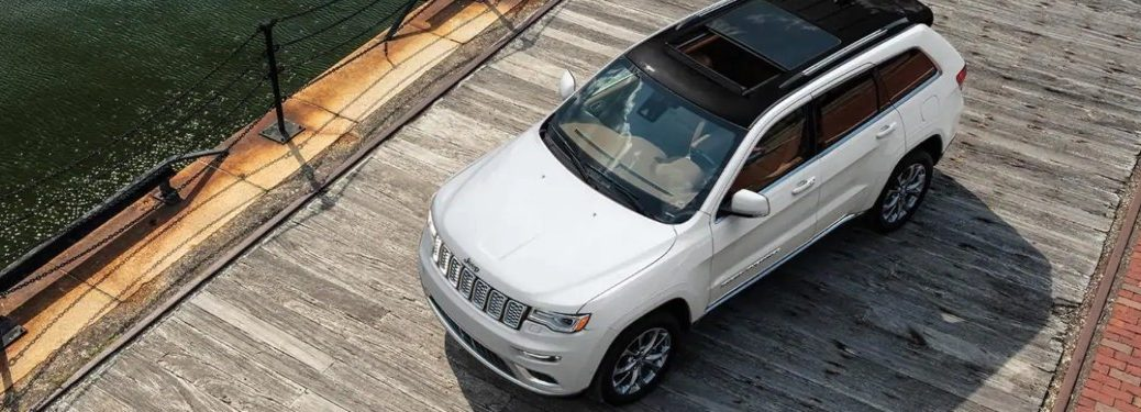 2021 Jeep Grand Cherokee from above