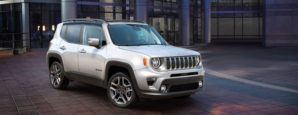 The 2021 Jeep Renegade parked outside a house