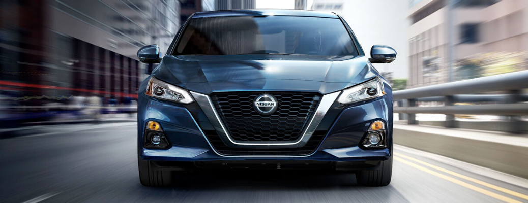 2020 Nissan Altima front view of driving on road