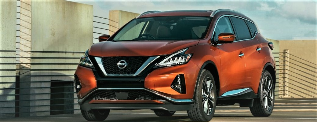 2020 Nissan Murano parked outside near wall