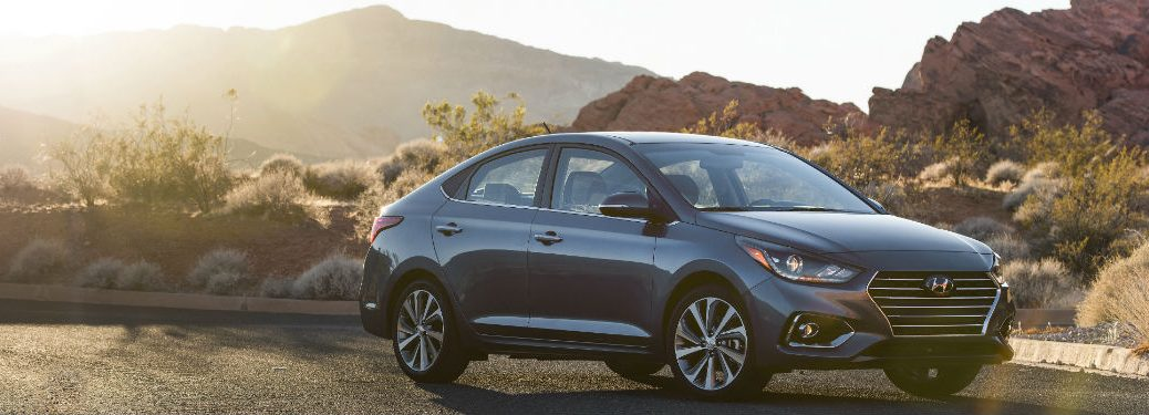 2020 Hyundai Accent exterior front fascia passenger side parked