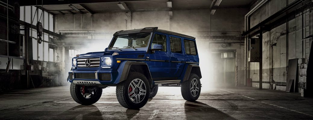 Mercedes-Benz G-Class Parked in a Warehouse