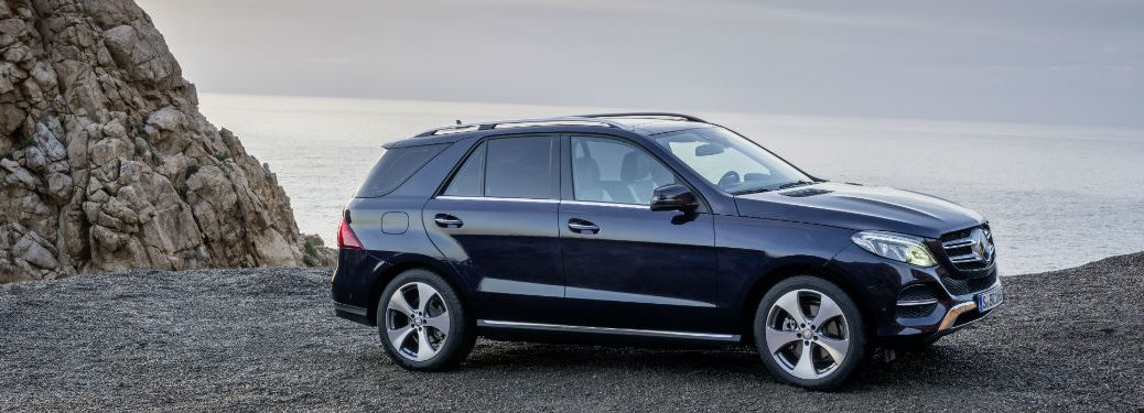 2018 Mercedes-Benz GLE exterior passenger side profile on cliff with water