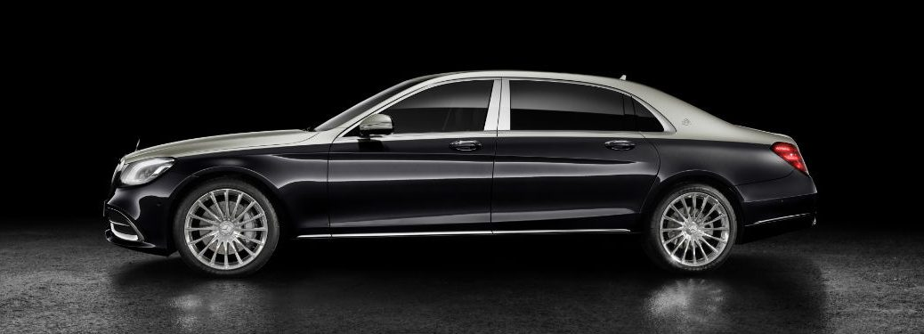 2019 Mercedes-Maybach S-Class exterior drivers side profile gray and black background