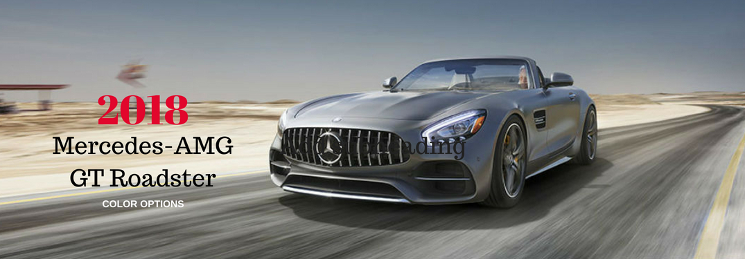 What are the Color Options for the 2018 Mercedes-AMG GT Roadster?