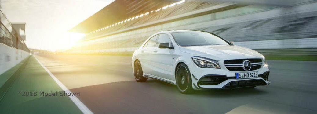 Passenger side exterior view of the 2019 Mercedes-Benz CLA