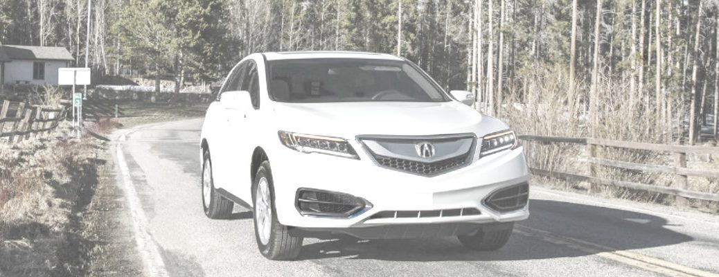 2018 Acura RDX driving in the winter