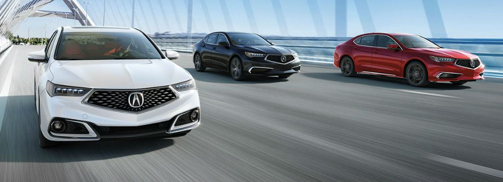 Three 2020 Acura TLX models