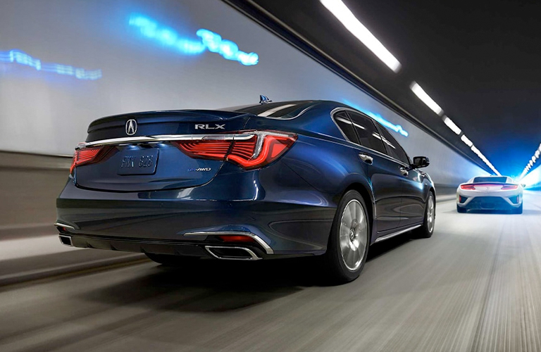 2020 Acura RLX rear in blue