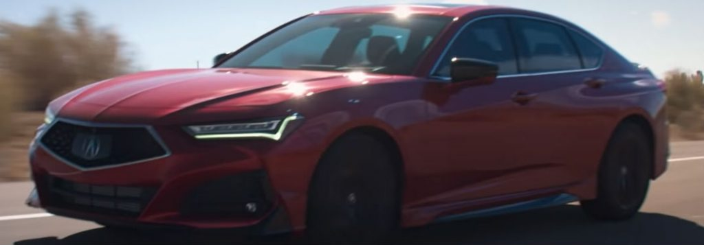 2021 Acura TLX in red