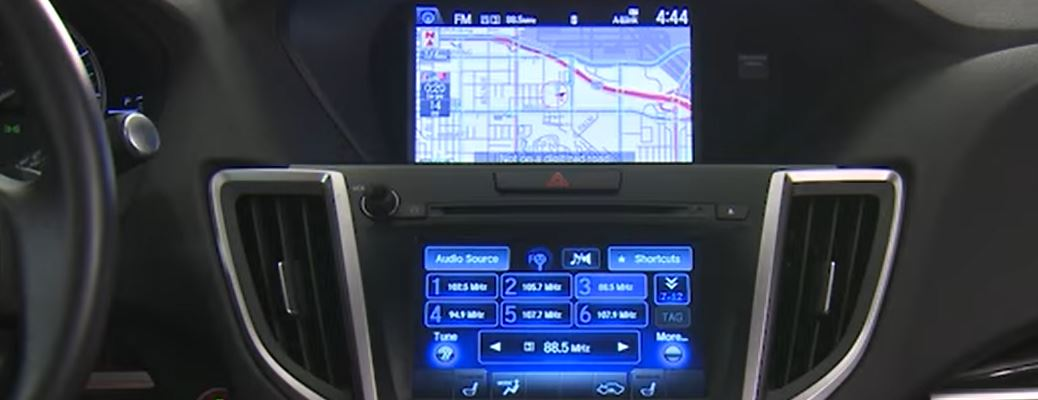 a navigation system in an Acura MDX