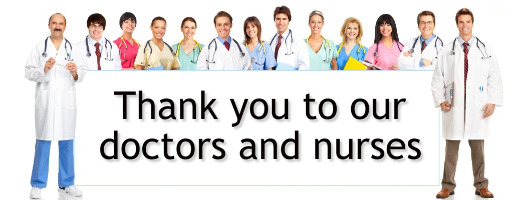 thank you to our doctors and nurses