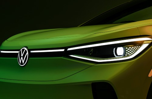 close up of front fascia of 2021 VW ID4