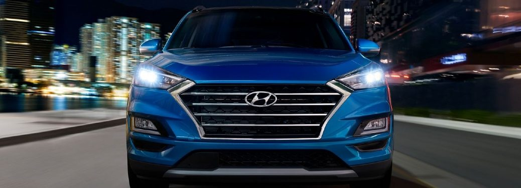 2020 Hyundai Tucson driving towards camera