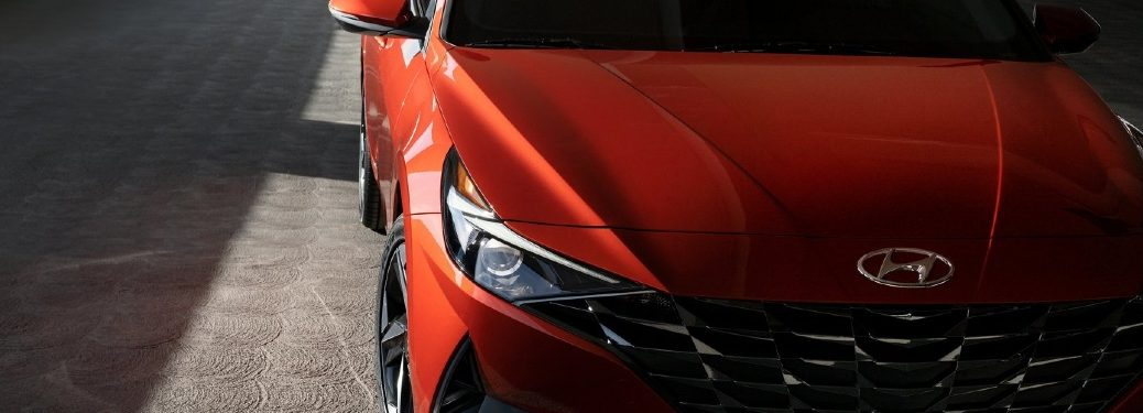 2021 Elantra exterior stylized front-end