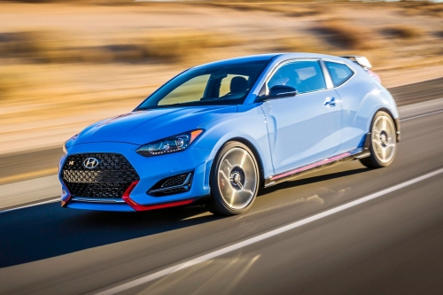 2021 Veloster N driving on open road