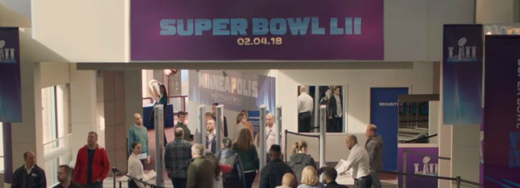 Super Bowl LII banner in Hyundai Hope Detector commercial